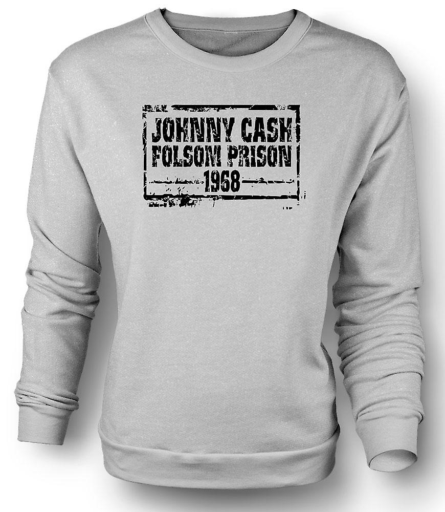 Mens Sweatshirt Johnny Cash Folsom Prison 68 - Country Legend