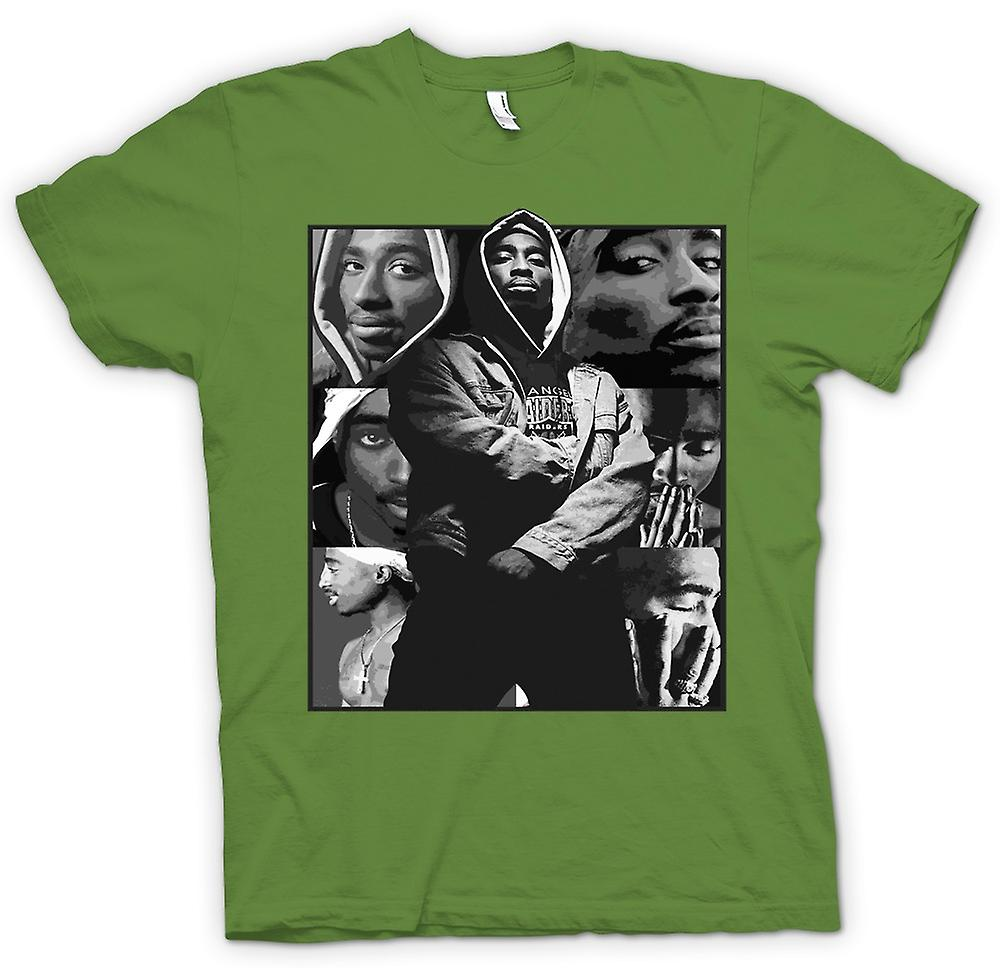 Hombres camiseta - Tupac Collage - Hip Hop
