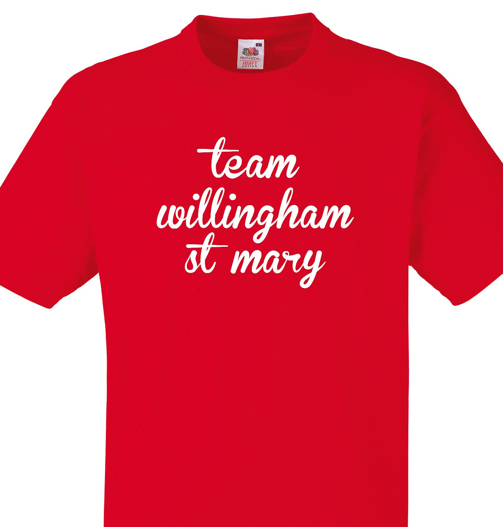 Team Willingham st mary Red T shirt