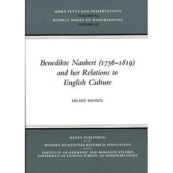 Benedikte Naubert and Her Relations to English Culture