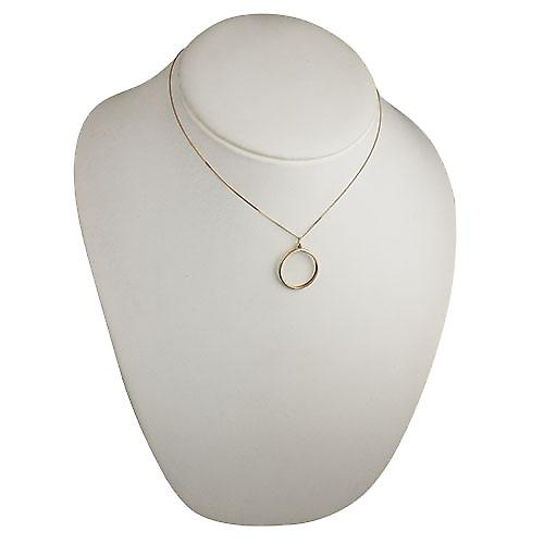 9ct Gold 23mm plain Full Sovereign mount channel Pendant with a curb Chain 16 inches Only Suitable for Children