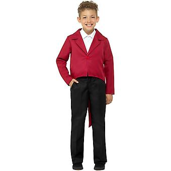 Childrens Red Tailcoat Fancy Dress Costume