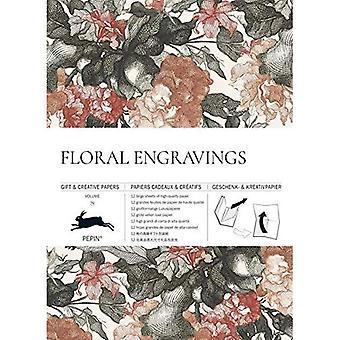 Floral Engravings: Gift & Creative Paper Book Vol. 79