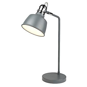 Scandi Matt Grey And Chrome Adjustable Table Lamp - Searchlight 1853GY