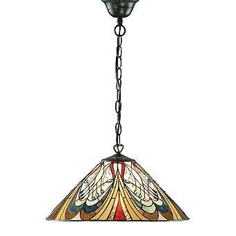 Hector medio estilo Tiffany una luz de techo colgante - interiores 1900 64162