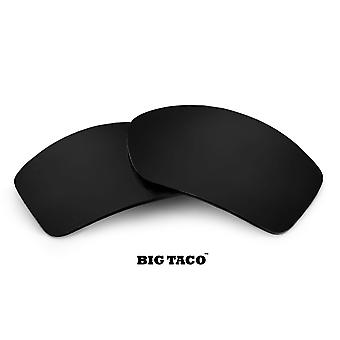 BIG TACO Replacement Lenses Polarized Black by SEEK fits OAKLEY Sunglasses