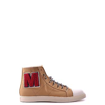 Marc Jacobs Beige Fabric Hi Top Sneakers