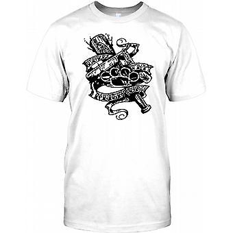 Liebe deinen nächsten - Knuckleduster Messer Tattoo Kinder T Shirt