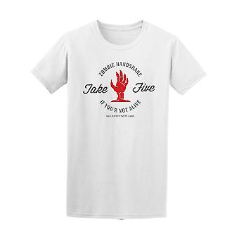Zombien Handshake Take Five  Tee Men's -Image by Shutterstock