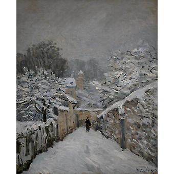 Snow at louveciennes,Jean-Antoine Watteau,50x40cm