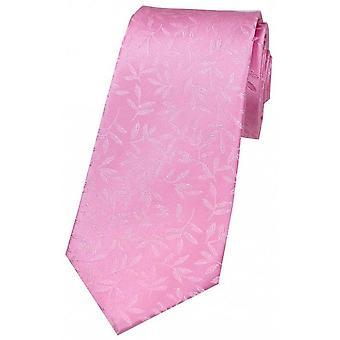 David Van Hagen folha padrão gravata de seda - azul Royal