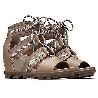Womens Sorel  Joanie II Lace Webbing Wedge Heel Open Toe Cut Out Sandals