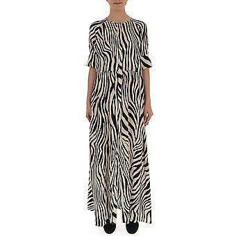 Laneus White/black Cotton Dress