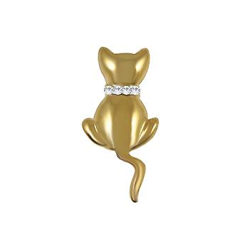 Eternal Collection Kitty The Golden Cat Brooch