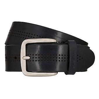 Strellson jeans belt men belt cowhide leather belt blue 7915