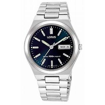 Lorus Mens Dark Blue Dial Day Date RXN17BX9 Watch