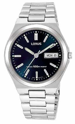 Lorus Mens mørke blå ring Day Date RXN17BX9 Watch