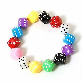 The Olivia Collection Children's Plastic Funky Coloured Dice Bracelet