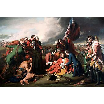 A morte do General Wolfe, Benjamin West, 40x60cm com bandeja