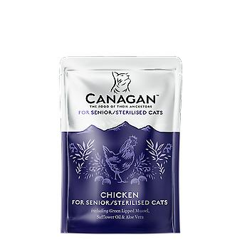 Canagan Chicken For Sterilised/Seniors Pouches 8 x 85g Cat Food