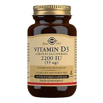 Solgar Vitamin D3 55ug (2200iu) Vegicaps 50 (3316)