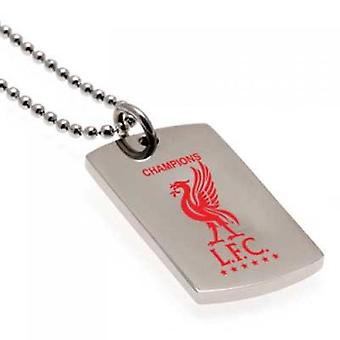 Liverpool Champions Of Europe Colour Crest Dog Tag & Kette