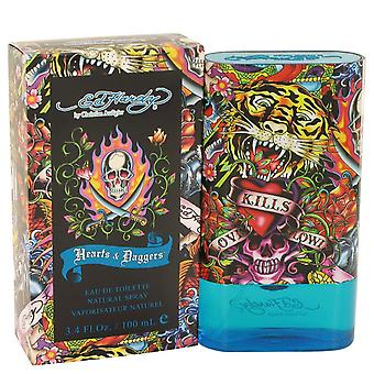 Ed Hardy Hearts & Daggers by Christian Audigier Eau De Toilette Spray 3.4 oz / 100 ml (Men)