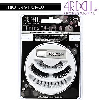 Ardell Trio 3-in-1  Natural Looking Style Stunning Effect Eye Lash Collection