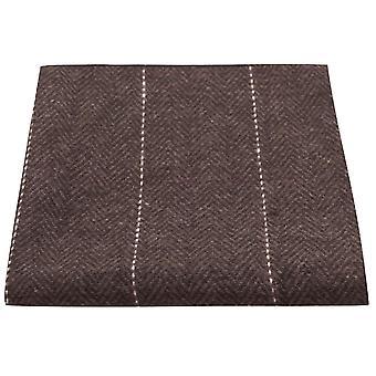 Luxe visgraat chocolade bruine zak plein, zakdoek