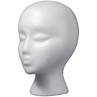 Styrofoam Head EPS Female Bulk-White RS260