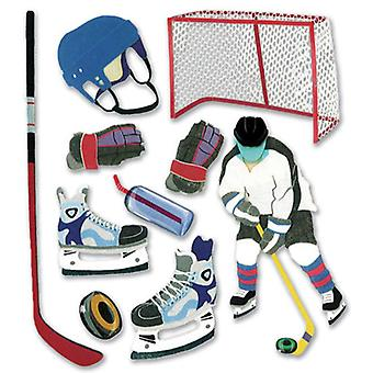 Jolee's Boutique Dimensional Stickers Hockey Spjb 450