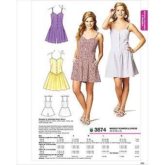 Romper & Dress  Xs  S  M  L  Xl Pattern K3874