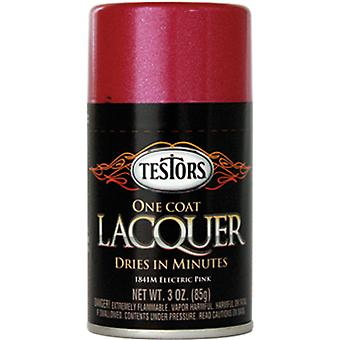 Testors Aerosol Lacquer Paint 3 Ounces Electric Pink Tlacquer 1841