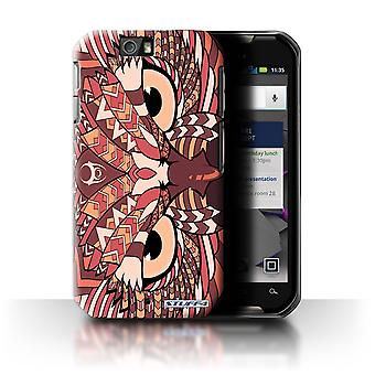 STUFF4 Case/Cover for Motorola IronRock/XT626/Owl-Red/Aztec Animal