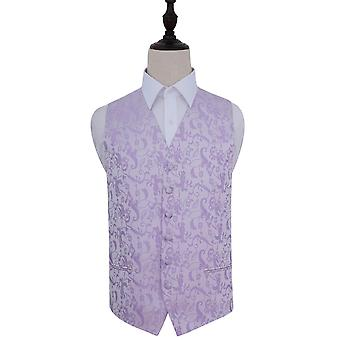 Lilac Passion Floral Patterned Wedding Waistcoat
