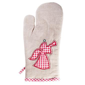 Merry Christmas' Kitchen Serving Oven Glove Mitt with Angel