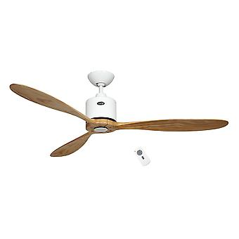 "Energy-saving ceiling fan Aeroplan Eco White - Natural 132 cm / 52"" with remote control"