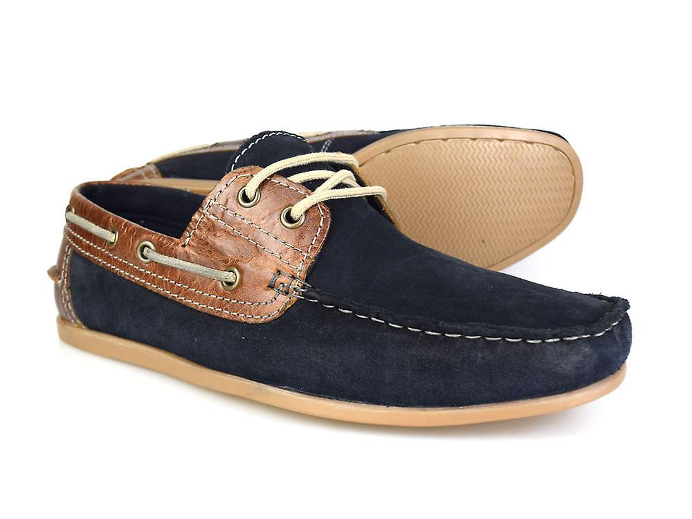 Bürokratie Stratton Marine Wildleder und Leder Mens Casual Boot Schuhe