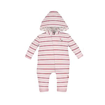 Magnificent Baby Magnetic Me™ Bedford Stripes Hooded Baby Girl Coverall