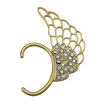 Dorado ala del ángel del Rhinestone oído brazalete
