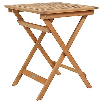 Charles Bentley FSC Eucalyptus Square Wooden Folding Side Table - Compact with Oil Coated Natural Finish