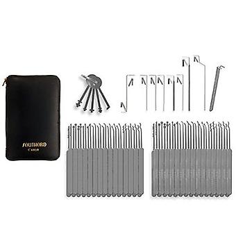SouthOrd 74 Stück Lockpicking set Slimline für schmalen Schleusen all-in-1 set