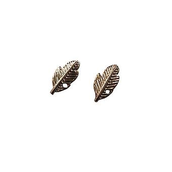 Minimalist statement earrings Springs rosé gold