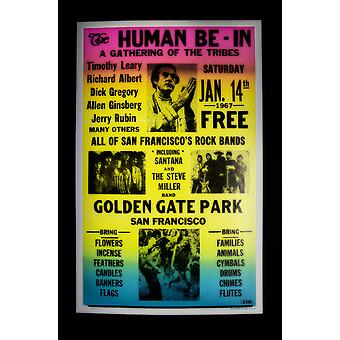 Human Be - In Retro Concert Poster