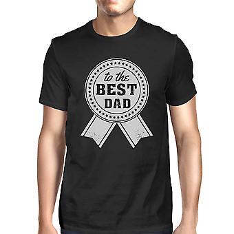 Do najlepszych tata męskie Black Vintage Design Tee prezenty na dzień ojca