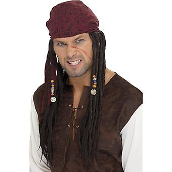 Pirate wig Jack pirate pirates Sparrow wig