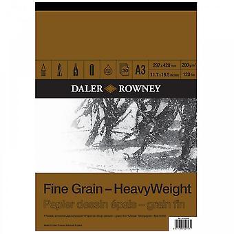 Daler Rowney fino grano pesado engomado Pad A3