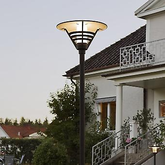 KONSTSMIDE Gemini Matt Black Lantern & Pole