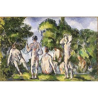 Paul Cezanne - Group of Bathers Poster Print Giclee