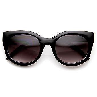 Womens Retro Fashion Bold High Temple Cat Eye Sunglasses
